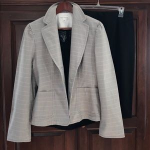 BANANA REPUBLIC Jacket Blazer Plaid 3-Button Cute!